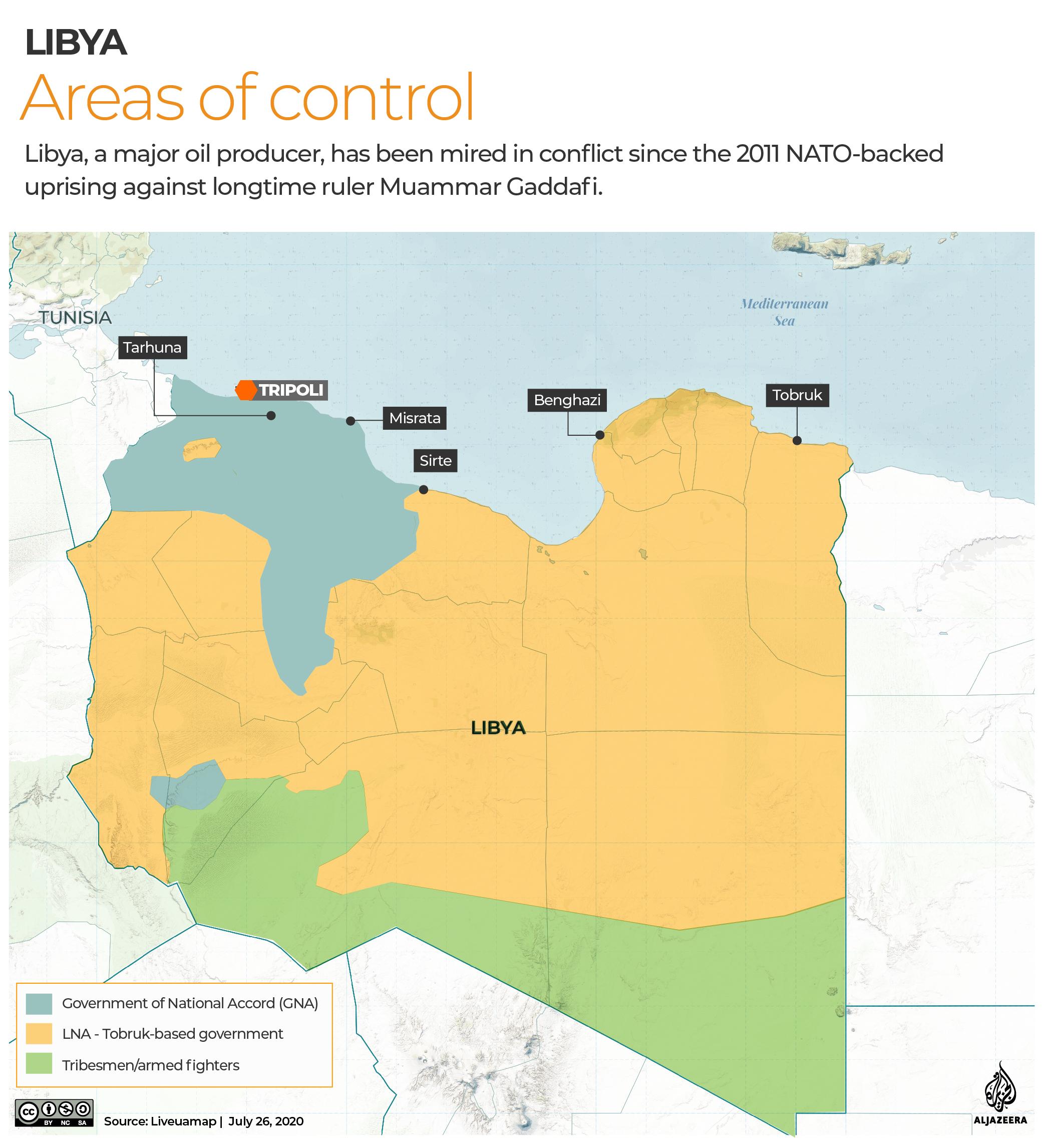 INTERACTIVE: Libya Control map - July 27, 2020