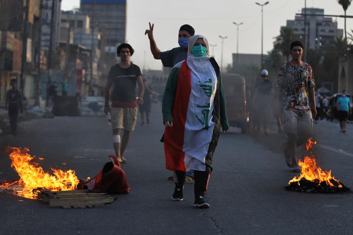 Sporadic demonstrations have resumed in recent weeks in several Iraqi provinces.[Ahmad Al-Rubaye/AFP]