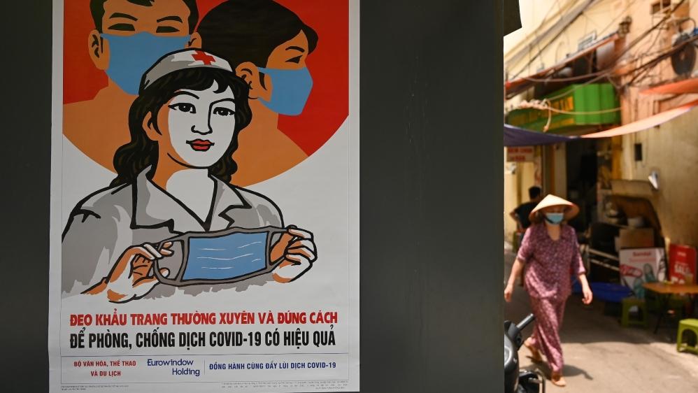 Poster coronavirus hanoi vietnam