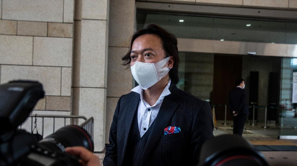 Hong Kong lawyer Laurence Lau representing Tong Ying-kit
