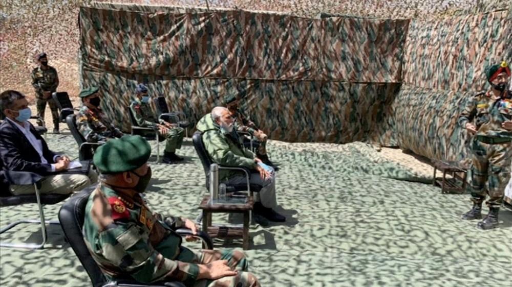 India's Prime Minister Narendra Modi visits Ladakh