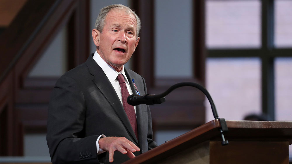 George W. Bush speaks at John Lewis service
