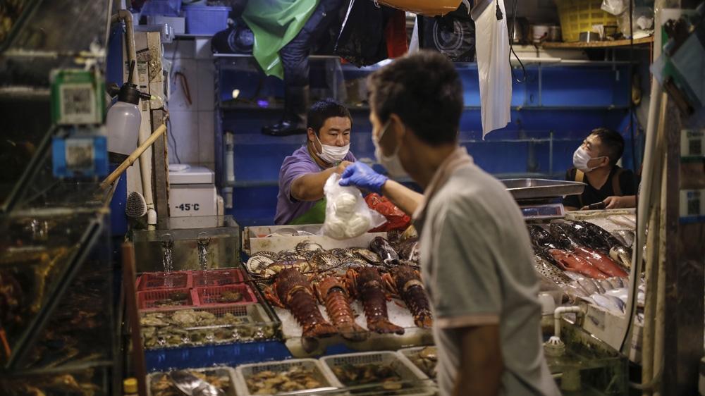 China seafood market