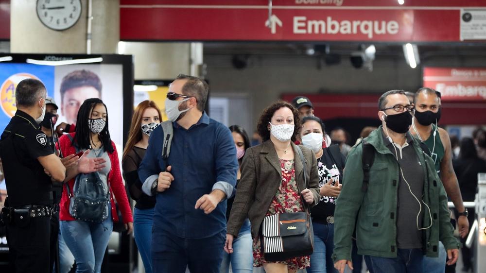 Brazil commuters