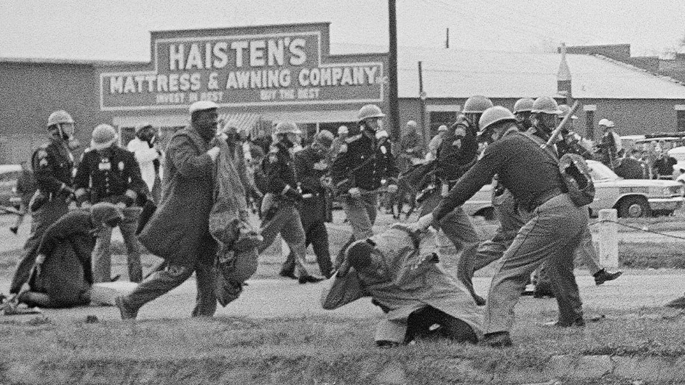 John Lewis beaten civil rights march 1965