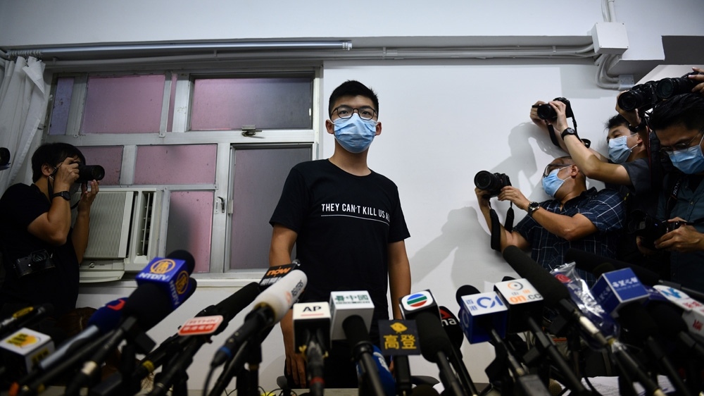 Joshua Wong vows to fight on after HK election disqualifications