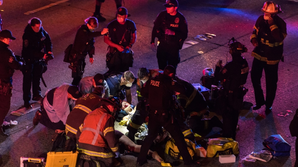 Seattle protester struck by car on closed interstate dies thumbnail