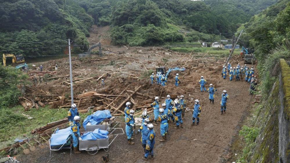 Japan - landslide