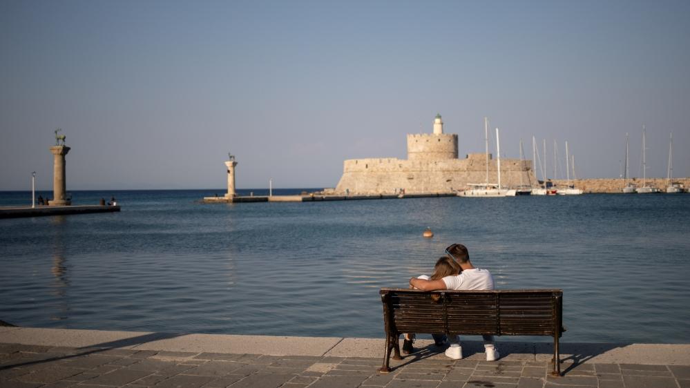 Greece couple