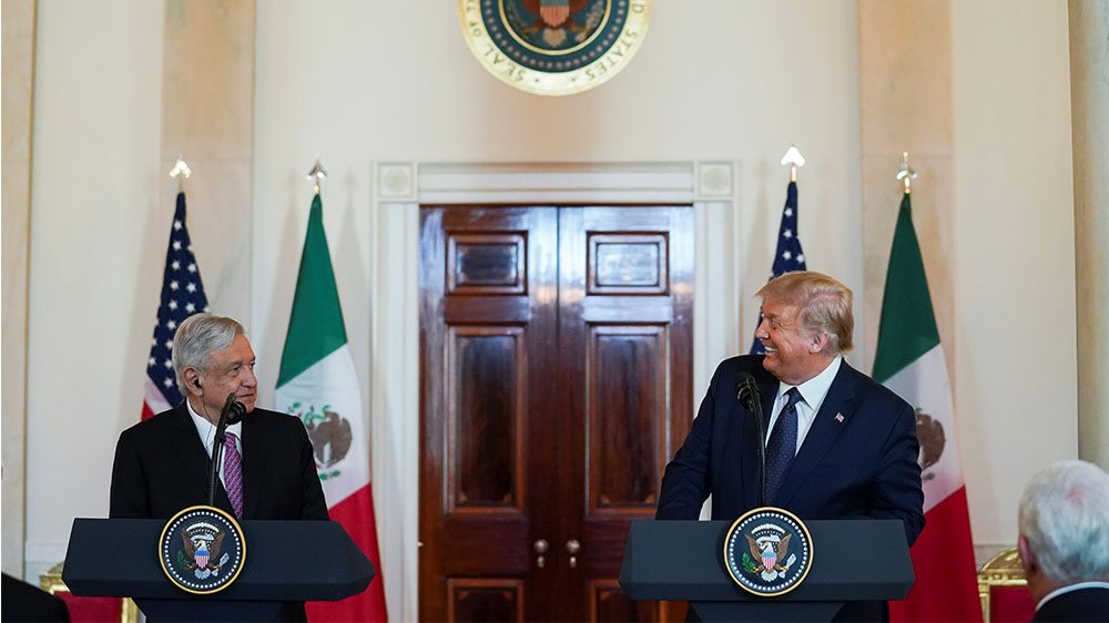 US-Mexican presidents celebrate odd bromance in mini-summit – Al Jazeera English