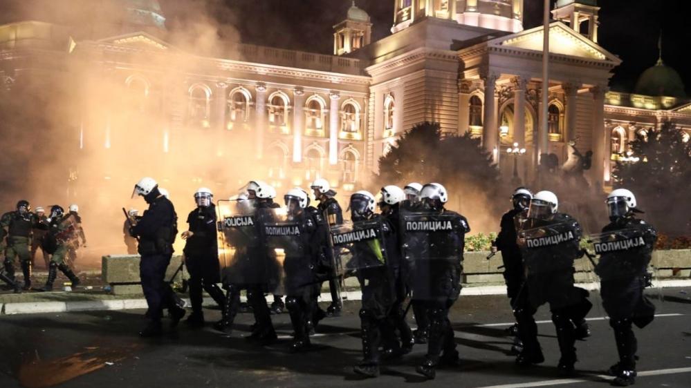 Belgrade protest