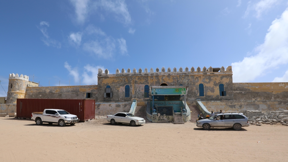 A general view shows the Mogadishu central cell in Mogadishu