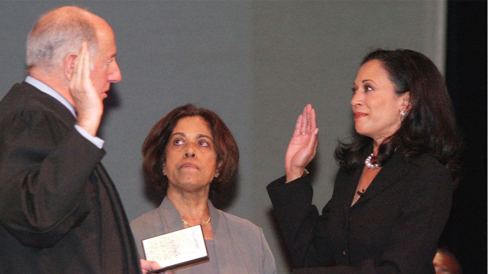 Kamala Harris mother Shyamala Gopalan swearing-in ceremony