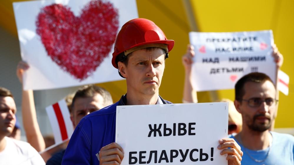 Belarus protesters