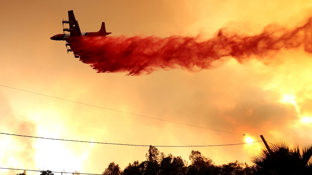 US - HENNESSEY - FIRE - BURNS - IN - NAPA - COUNTY