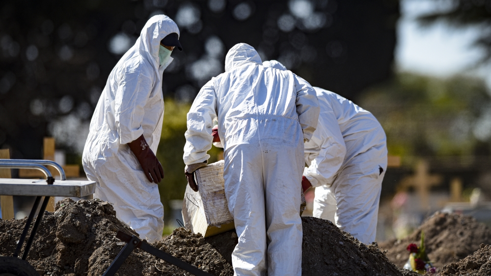 Global coronavirus death toll hits 800,000: Live news thumbnail