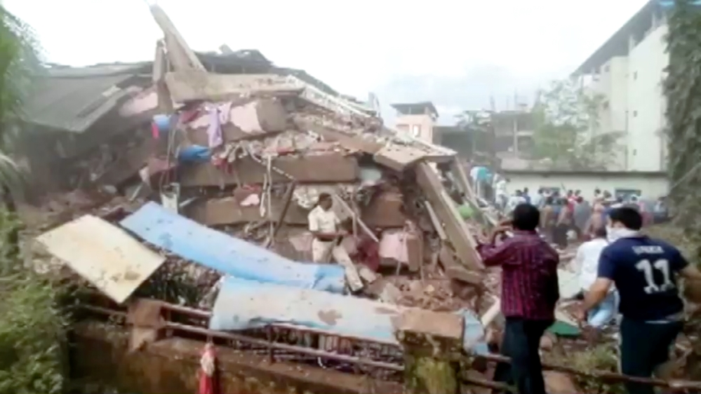 Building collapse in Raigad in the western state of Maharashtra