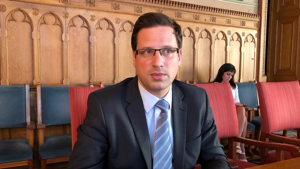 Senior Fidesz lawmaker Gergely Gulyas, who will be Prime Minister Viktor OrbanÕs chief of staff, speaks to Reuters in an interview in Budapest