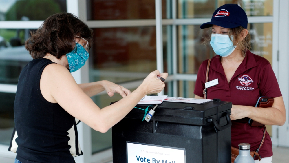 Boleta electoral por correo en tampa, florida, elecciones estadounidenses, EE.