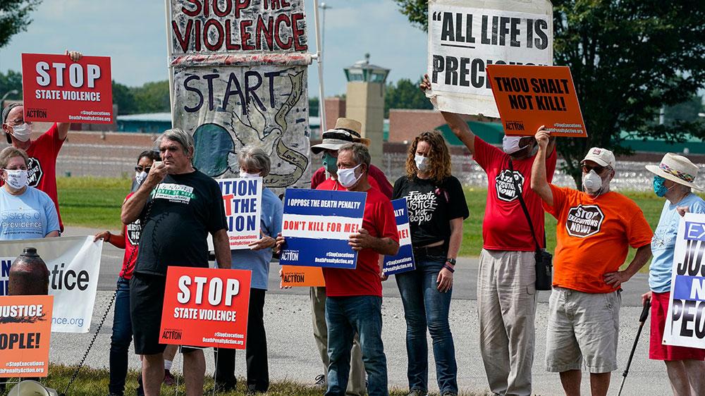 manifestantes condenados a muerte Terre Haute