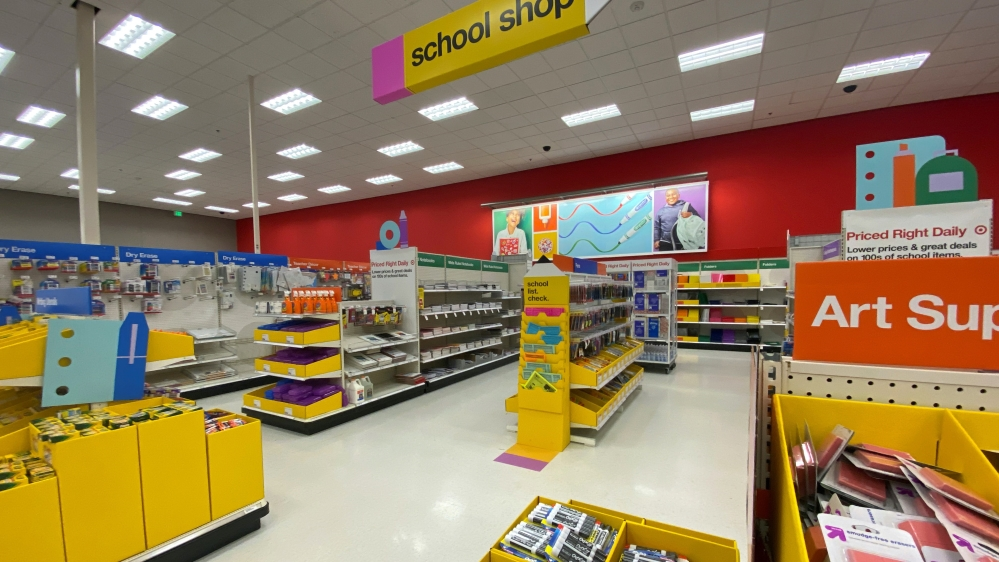 Store school supplies