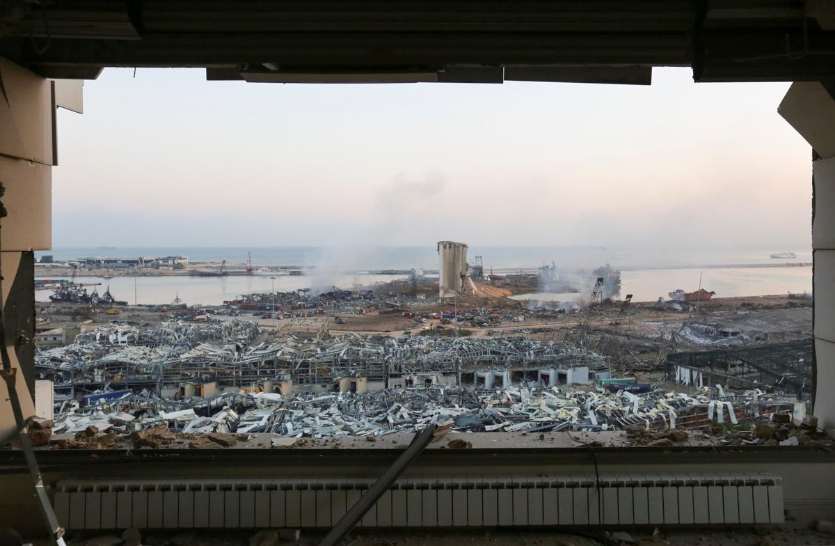 Shpërthimi i së martës u dëgjua në të gjithë Qipron, që shtrihet më shumë se 200 km larg (124 milje) larg.  [Aziz Taher / Reuters]