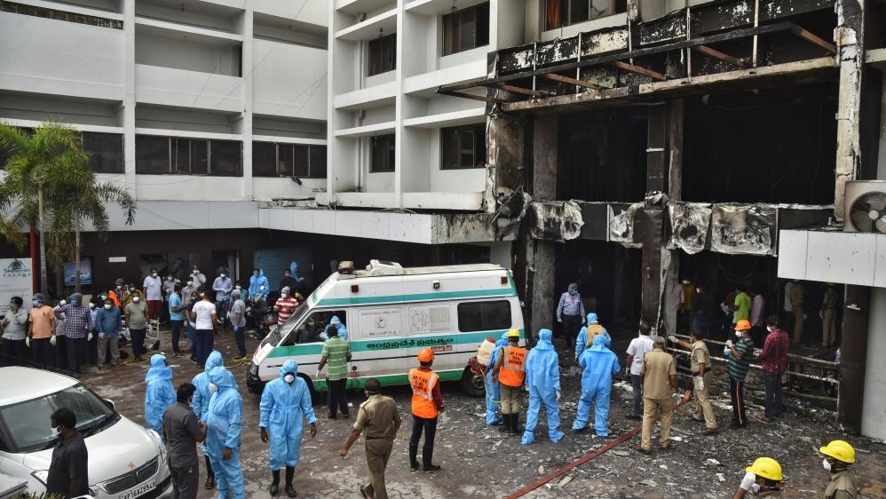 Deadly fire at coronavirus facility in south India thumbnail