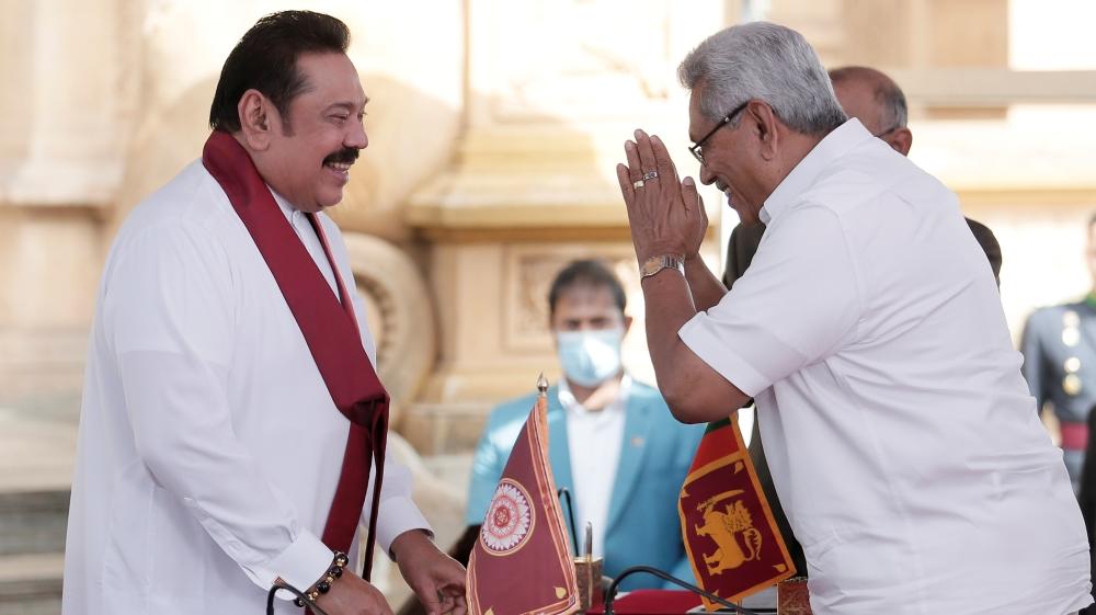 Mahinda Rajapaksa sworn in as Sri Lanka's PM after record victory - Al Jazeera English