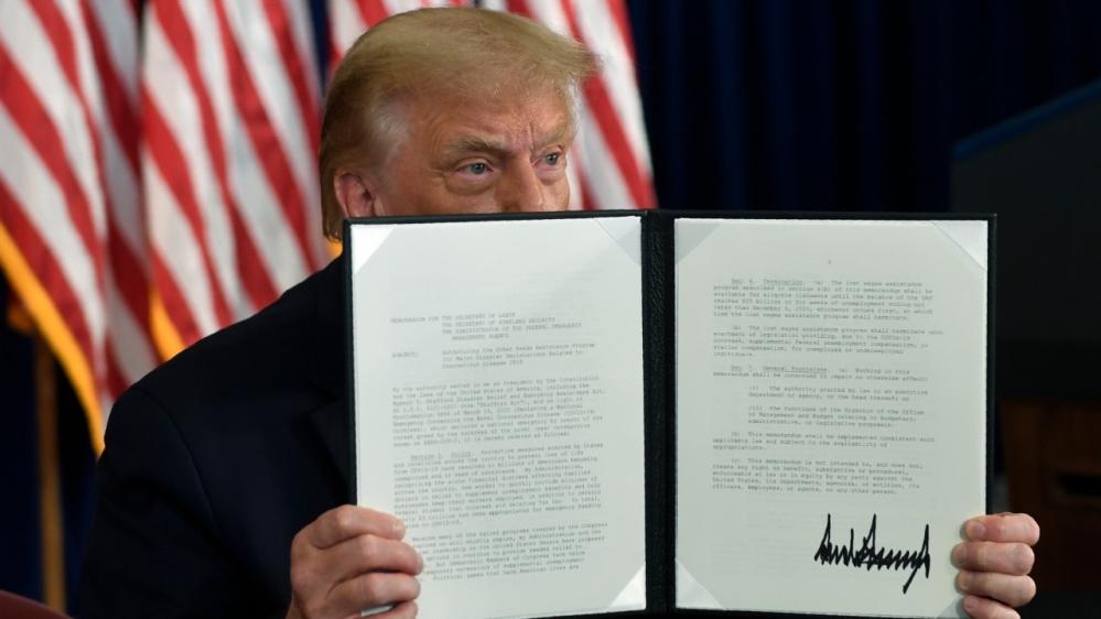 Trump extends coronavirus relief as talks with Congress falter thumbnail