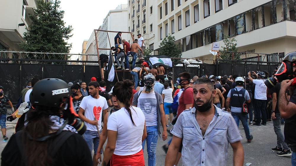 Protestos de Beirute [Arwa Ibrahim / Al Jazeera]