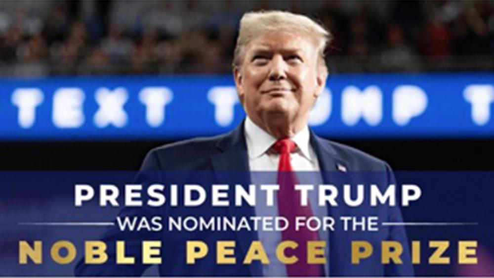 Trump Facebook ad misspells Nobel