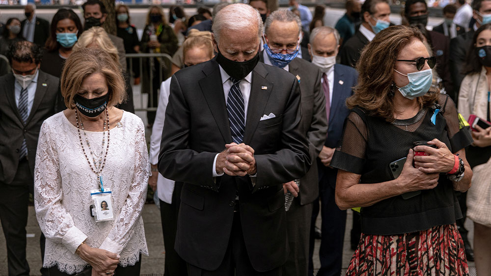 Biden at NYC Sept 11 memorial