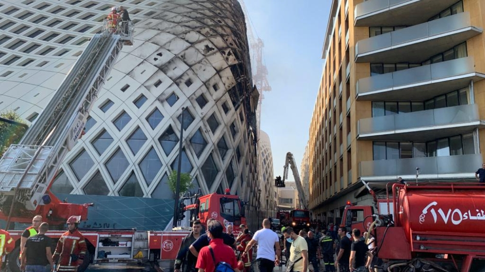 Lebanon: Fire erupts in Beirut building designed by Zaha Hadid thumbnail