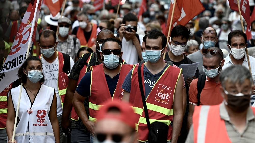Union protests in France