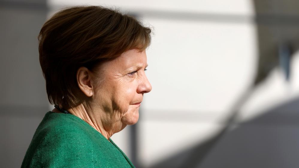 German Chancellor Merkel welcomes EC President von der Leyen before in Berlin