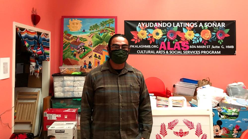 Joaquin Jimenez in the ALAS office in Half Moon Bay, California [Brian Osgood/Al Jazeera]