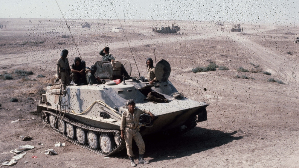 War Iran - Iraq. Iraqi tank. Khorramchahr (Iraq), in October, 1980. FDM-796-19. (Photo by Francoise De Mulder/Roger Viollet via Getty Images)