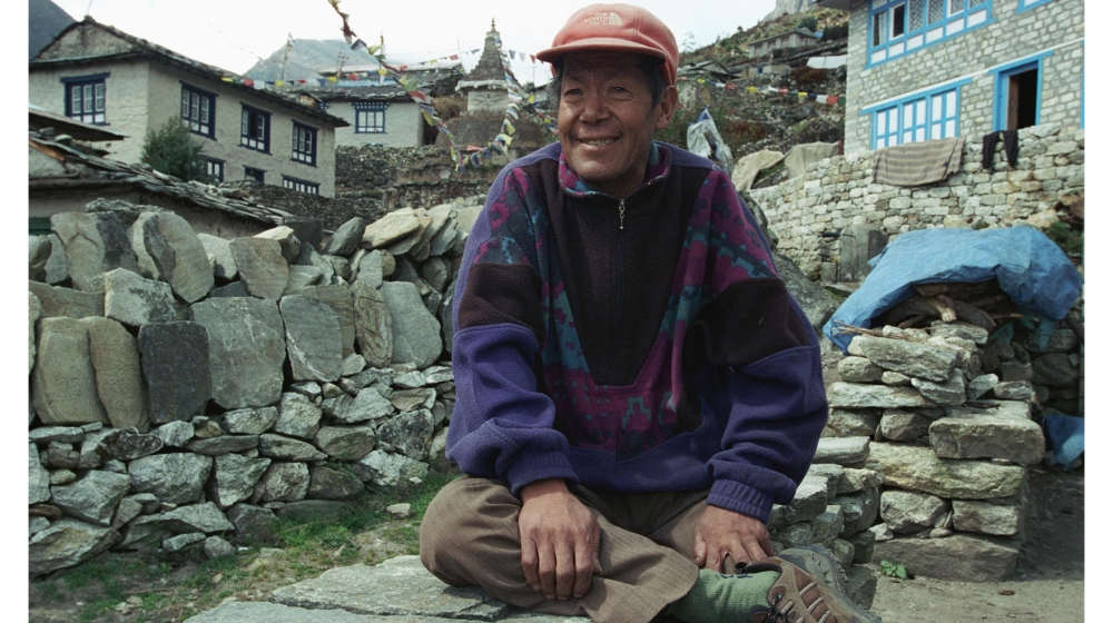 Ang Rita Sherpa is the only person who climbed Everest ten times from 1983 to 1996 without using additional oxygen.  Born in Thame in 1949, he began life as a porter, a high altitude Sherpa, S.