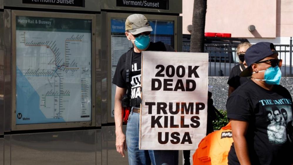ट्रम्प - 200,000 मौतें