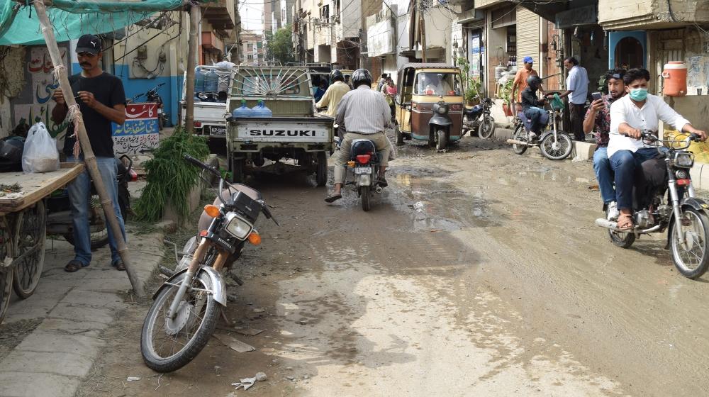 Karachi floods [Aysha Imtiaz/Al Jazeera]