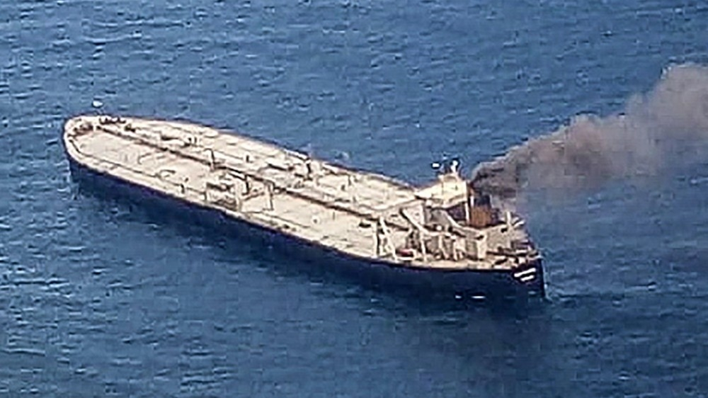 Blazing tanker sparks fears of a new Indian Ocean disaster thumbnail