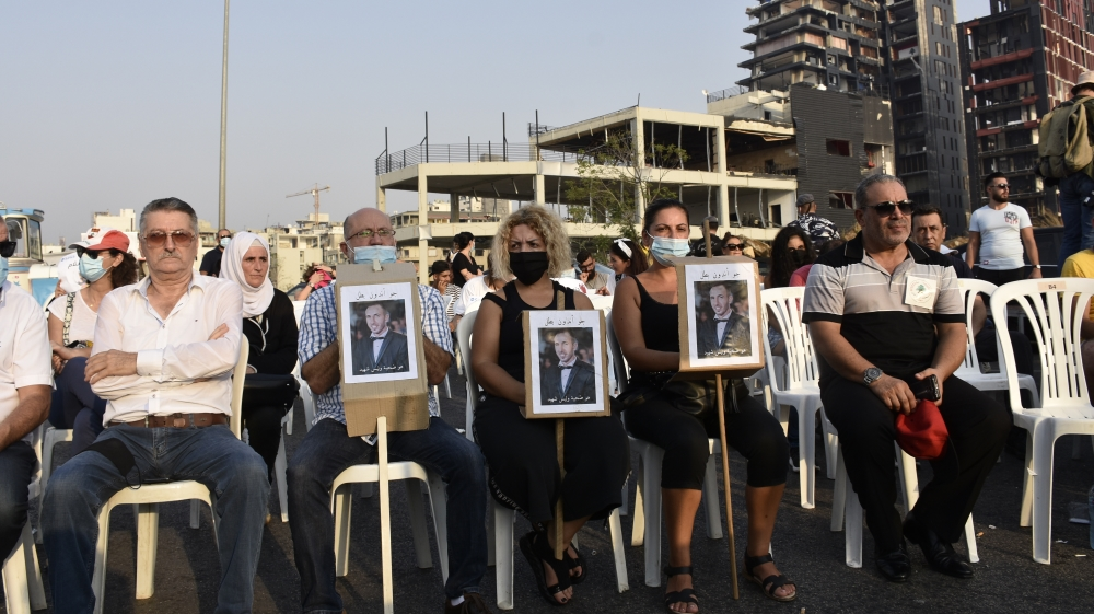 Commemoration ceremony for the victims of massive blasts sn Beirut