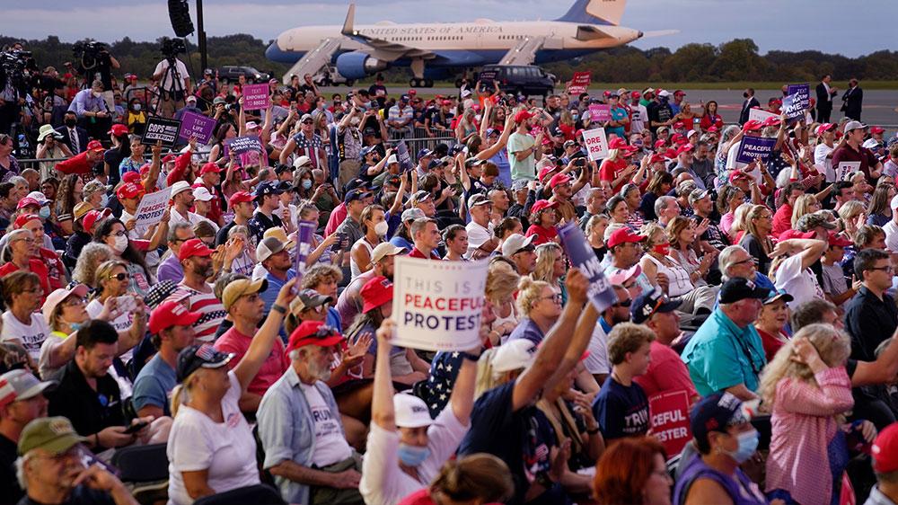Trump campaign event crowd in NC