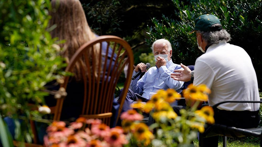 Biden speaks at backyard event in PA