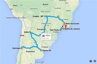 Chile Brazil The mother of all road trips Football Al Jazeera