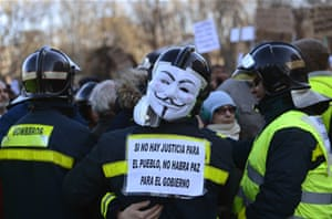 Protests held against Spain spending cuts