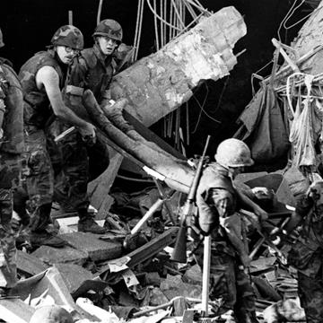 1983 Beirut barracks bombing, through the lens of a camera