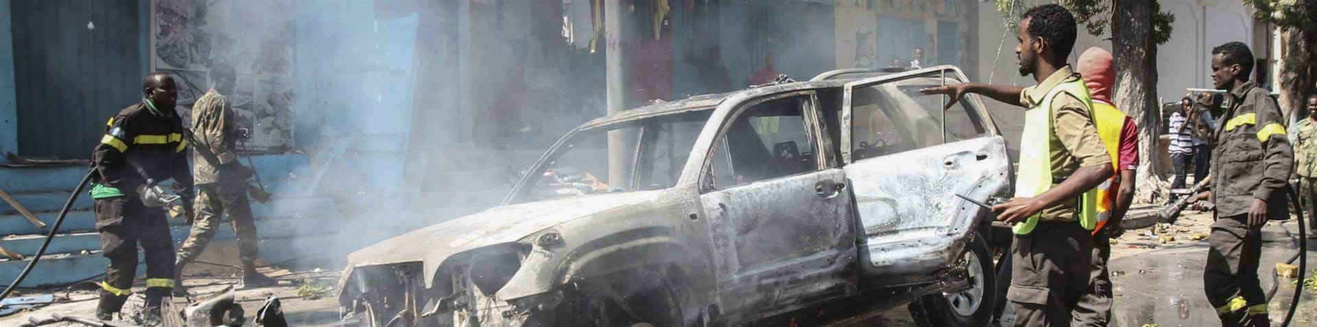 Saturday's suicide attack occurred near the presidential palace in Mogadishu [EPA]