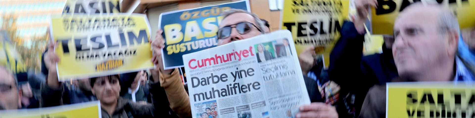 "Turkey's Prime Minister Binali Yildirim said the government will ""protect press freedom until the end""  [Umit Bektas/Reuters]"