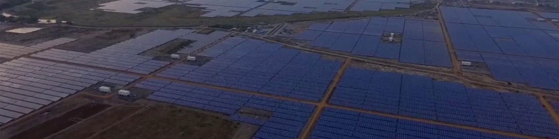 The vast solar power plant covers an area of 10 square kilometres [Reuters]